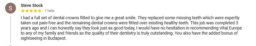 Happy patient reviews