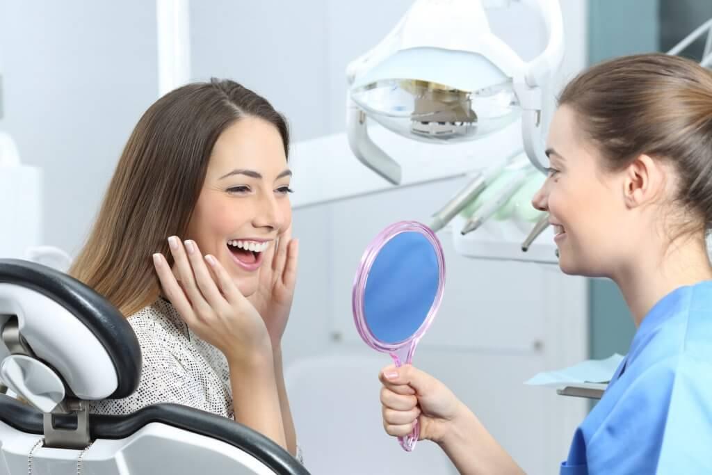Happy patient, dental implants